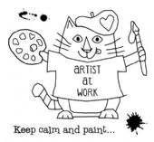 Woodware - Van Cat - Clear Magic Single Stamp - FRS054